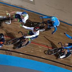 28-12-2014: Wielrennen: NK Baanwielrennen: Apeldoorn Jens Mours-Nick Stopler en Yoerie Havik-Dylan van Baarle