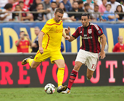 CHARLOTTE, USA - Saturday, August 2, 2014: Liverpool's Rickie Lambert in action against AC Milan during the International Champions Cup Group B match at the Bank of America Stadium on day thirteen of the club's USA Tour. (Pic by Mark Davison/Propaganda)