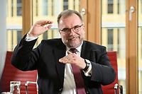 03 MAY 2021, BERLIN/GERMANY:<br /> Siegfried Russwurm, Praesident Bundesverband der Deutschen Industrie, BDI, und Aufsichtsratschef Thyssenkrupp, waehrend einem Interview, BDI, Haus der Wirtschaft<br /> IMAGE: 20210503-02-011