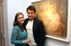 Artist JONATHAN YEO and SHEBAH RONAY at an exhibition of artist Jonathan Yeo's portrait paintings held at Eleven, 11 Eccleston Street, London SW1 on 16th February 2006.<br /><br />NON EXCLUSIVE - WORLD RIGHTS