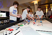 16/02/2014     joined pupils from all over Ireland at this year's FIRST Lego League Challenge at the Radisson Blu Hotel Galway. Photo:Andrew Downes.