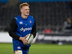 Bath Rugby's Miles Reid during the pre match warm up<br /> <br /> Photographer Simon King/Replay Images<br /> <br /> Anglo-Welsh Cup Round 4 - Ospreys v Bath Rugby - Friday 2nd February 2018 - Liberty Stadium - Swansea<br /> <br /> World Copyright © Replay Images . All rights reserved. info@replayimages.co.uk - http://replayimages.co.uk