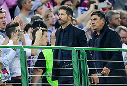 Diego Simeone, head coach of Atlético looks dejected at Trophy ceremony after the football match between Real Madrid (ESP) and Atlético de Madrid (ESP) in Final of UEFA Champions League 2016, on May 28, 2016 in San Siro Stadium, Milan, Italy. Photo by Vid Ponikvar / Sportida