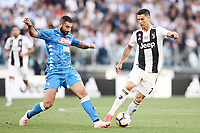Raul Albiol-Cristiano Ronaldo <br /> Torino 29-09-2018 Allianz Stadium Football Calcio Serie A 2018/2019 Juventus - Napoli <br /> Foto Matteo Gribaudi / Image Sport  / Insidefoto