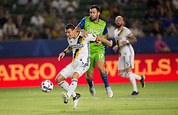 July 29, 2017 - Carson, CA, USA - Carson, CA - Saturday July 29, 2017: Daniel Steres, Will Bruin during a Major League Soccer (MLS) game between the Los Angeles Galaxy and the Seattle Sounders FC at StubHub Center. (Credit Image: © Michael Janosz/ISIPhotos via ZUMA Wire)