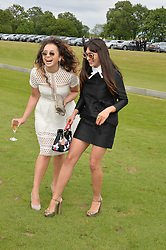 Left to right, ELLA EYRE and ZARA MARTIN at the Audi Polo Challenge at Coworth Park, Blacknest Road, Ascot, Berkshire on 31st May 2015.