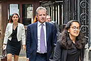 Former British Spy Christopher Steele leaves Royal Courts of Justice facilities in London on Friday, July 24, 2020 -  where he is been attending a legal dispute with Russian venture capitalist Aleksej Gubarev. <br /> The former British spy who wrote the so-called Steele Dossier told a British court that U.S. President Donald Trump may have posed a serious risk to U.K. national security. (VXP Photo/ Vudi Xhymshiti)