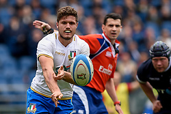 March 17, 2018 - Rome, Italy - Marcello Violi of Italy during the NatWest 6 Nations Championship match between Italy and Scotland at Stadio Olimpico, Rome, Italy on 17 March 2018. (Credit Image: © Giuseppe Maffia/NurPhoto via ZUMA Press)