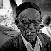 Old man big eyes bw, Nabeul, Tunisia (November 2005)