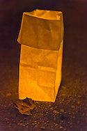 Sept. 11, 2012 - Merrick, New York, U.S. - 500 Luminary Bags placed in front of all 215 Wenshaw Park homes on 11th Anniversary of 9/11, by Wenshaw Park Civic Association (WPCA), Long Island, with over $500 already raised for Twin Towers Orphan Fund.