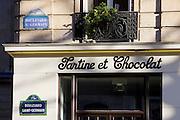 Tartine et Chocolat, children's clothes shop on Boulevard St Germain, Paris, France
