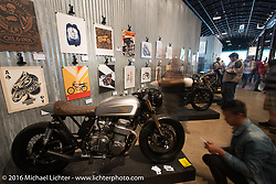The Oil and Ink 2016 art print tour on Saturday in the Handbuilt Motorcycle Show. Austin, TX, USA. April 9, 2016.  Photography ©2016 Michael Lichter.
