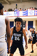 NORTH AUGUSTA, SC. July 10, 2019. Micah Garrett 2020 #24 of Seattle Rotary 17U at Nike Peach Jam in North Augusta, SC. <br /> NOTE TO USER: Mandatory Copyright Notice: Photo by Alex Woodhouse / Jon Lopez Creative / Nike