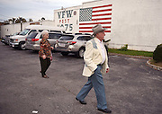 Together Arnold and Odessa make their way to a dance at the Frankfort Veterans of Foreign Wars hall.