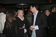 Toby Young and Tom Sykes,  Book launch for ' What Did I Do last night' by Tom Sykes. Century Club. Shaftesbury Ave. London. 16 January 2006. -DO NOT ARCHIVE-© Copyright Photograph by Dafydd Jones. 248 Clapham Rd. London SW9 0PZ. Tel 0207 820 0771. www.dafjones.com.