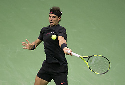 September 8, 2017 - Flushing Meadows, New York, U.S - Rafael Nadal defeats Juan Martin del Potro in Semifinal game on Day Twelve of the 2017 US Open at the USTA Billie Jean King National Tennis Center on Friday September 8, 2017 in the Flushing neighborhood of the Queens borough of New York City.  Nadal defeats del Potro. Nadal defeats del Potro, 4-6, 6-0, 6-3, 6-2. (Credit Image: © Prensa Internacional via ZUMA Wire)