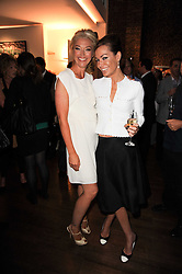 Left to right, TAMARA BECKWITH and TARA PALMER-TOMKINSON at a private view of Sacha Jafri's paintings entitled 'London to India' held in aid of The Elephant Family charity at 23 Macklin Street, Covent Garden, London on 3rd June 2010.
