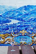 azulejos at train station pinhao douro portugal
