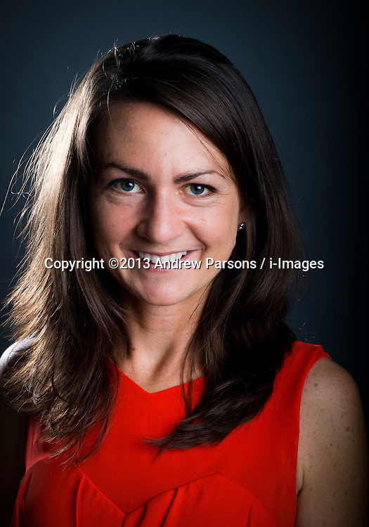 Portraits of Best Selling author Polly Courtney. She is an ex banker and is now an English author and media commentator. She is best known as the author of the novels Golden Handcuffs and Poles Apart. London, United Kingdom. Monday, 9th September 2013. Picture by Andrew Parsons / i-Images