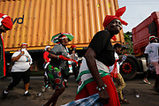 Supporters of the opposition National Democratic Congress partake in an organized community health walk ahead of the December 7 elections. November 21, 2020. Accra, Ghana. REUTERS/Francis Kokoroko