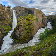 There are few waterfalls named Godafoss. This one is. in Eyjafjordur near Akureyri.