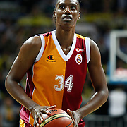Galatasaray's Sylvia Fowles during their Turkish Basketball woman league derby match Fenerbahce between Galatasaray at Ulker Sports Arena in Istanbul, Turkey, wednesday, December 26, 2012. Photo by Aykut AKICI/TURKPIX