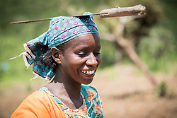 4 June 2019, Meiganga, Cameroon: Issa Hawaou is one of a group of CAR refugees trained by the Lutheran World Federation in modern farming techniques. By keeping a strict ratio of how many seeds to sow per hectare, and by sowing Cassava and Groundnut together, they are able to both increase harvests and retain soil fertility over a longer time. Supported by the Lutheran World Federation, the Ngam refugee camp, located in the Meiganga municipality, Adamaoua region of Cameroon, hosts 7,228 refugees from the Central African Republic, across 2,088 households.