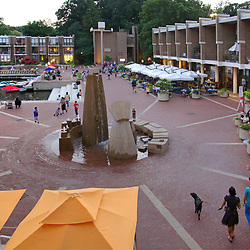 Lake Anne Plaza on a Summer Evening