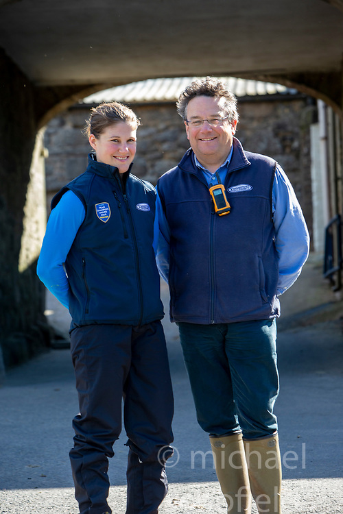 Father and daughter trainer/ jockey team Nick and Lucy Alexander at Kinneston stables, Leslie, Fife. Start regarding the launch of the Scottish Sun Family Raceday at Perth races