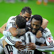 Besiktas's players celebrate victory during their Turkey Cup final match Besiktas between Istanbul BB at the Kadir Has Arena at Kayseri Turkey on wednesday, 11 May 2011. Photo by TURKPIX