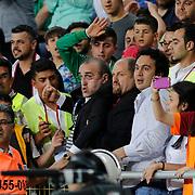 Galatasaray's Abdürrahim Albayrak (C) during their Turkish Superleague soccer match Mersin Idman Yurdu between Galatasaray at the Mersin stadium in Mersin Turkey on Sunday 12 May 2015. Photo by Aykut AKICI/TURKPIX