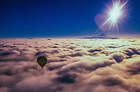 Hot air ballooning over Cappadocia with Kapadokya Balloons, Goreme, Turkey