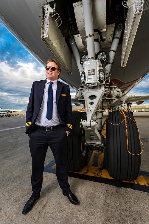 Wouter van Ommen, 747 First Officer, Cargolux.  Originally from the Netherlands.