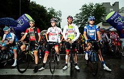 Luka Mezgec (SLO) of Mitchelton - Scott, Tadej Pogacar (SLO) of UAE Team Emirates, Diego Ulissi (ITA) of UAE Team Emirates and Aleksandr Vlasov (RUS) of Gazprom - Rusvelo during 4th Stage of 26th Tour of Slovenia 2019 cycling race between Nova Gorica and Ajdovscina (153,9 km), on June 22, 2019 in Slovenia. Photo by Vid Ponikvar / Sportida