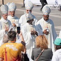 Participants leave after Pope Francis celebrated mass for the closing of the International Eucharistic Congress held on Heroes Square in Budapest, Hungary on Sept. 12, 2021. ATTILA VOLGYI