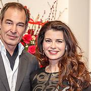 NLD/Amsterdam/20160206 - Premiere balletvorstelling Mata Hari, Caroline de Bruijn en partner Erik de Vogel