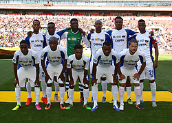 Chippa United tam photo during the 1st leg of the MTN8 Semi Final between Chippa United and Mamelodi Sundowns held at the Nelson Mandela Bay Stadium in Port Elizabeth, South Africa on the 11th September 2016<br /><br />Photo by: Richard Huggard / Real Time Images