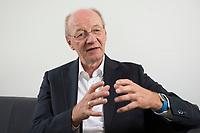 09 AUG 2016, BERLIN/GERMANY:<br /> Josef Janning, Head of office und Senior Policy Fellow, European Council on Foreign Relations, waehrend einem Interview, ECFR Berlin Office<br /> IMAGE: 20160809-01-037