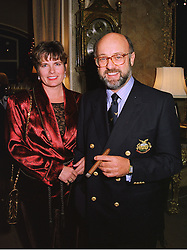 MR & MRS PETER DE SAVARY the millionaire businessman, at a party in London on 26th November 1997.MDS 34