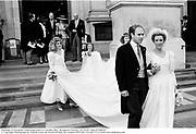 Marriage of Peregrine Armstrong-Jones to Caroline Bloy. Brompton Oratory. 29/10/87 Film 87908f28<br />© Copyright Photograph by Dafydd Jones 66 Stockwell Park Rd. London SW9 0DA Tel 020 7733 0108 www.dafjones.com
