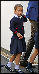 September 5, 2019, London, London, United Kingdom: Princess Charlotte first day at School...Princess Charlotte arrives for her first day of school at Thomas's Battersea in London, accompanied by her brother Prince George and her parents the Duke and Duchess of Cambridge. (Credit Image: © i-Images via ZUMA Press)