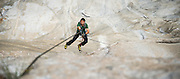 Kevin Jorgeson ascending fixed ropes on El Capitan's Dawn Wall in November of 2013. Over a year later he and partner Tommy Caldwell completed the 3000' route in Yosemite Valley during an epic nineteen day push. The route is regarded by many as being the hardest rock climb in the world.