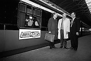 16/11/1966<br /> 11/16/1966<br /> 16 November 1966<br /> Personnel of O'Brien Plastics Ltd., Bishopstown, Cork at Heuston Station, Dublin. Pictured (l-r): Alderman Sean Casey, Lord Mayor of Cork; Mr. Edwin Van der Bark, Phillips Petroleum Co. and Mr. William O'Brien of O'Brien Plastics.