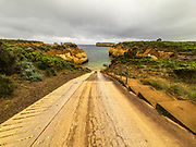 12 Apostles Boat Launch near the Town of Port Campbell and the Great Ocean Road of Australia