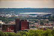 London, United Kingdom, July 27, 2021: A general picture looking at south London from Alexandra Palace, North London shows skyscrapers and residential houses of Britain's capital London on Tuesday, July 27, 2021. (VX Photo/ Vudi Xhymshiti)