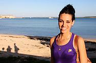 Woman on the beach in Gibara,Holguin,Cuba.