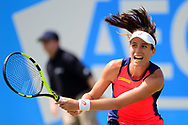 Johanna Konta (GBR) in action during her match against Yanina Wickmayer (BEL)..The Aegon Open Nottingham 2017, international tennis tournament at the Nottingham tennis centre in Nottingham, Notts , day 4 on Thursday 15th June 2017.<br /> pic by Bradley Collyer, Andrew Orchard sports photography.