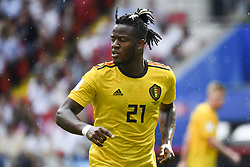 June 23, 2018 - Moscow, Russia - Michy Batshuayi of Belgium pictured during the 2018 FIFA World Cup Group G match between Belgium and Tunisia at Spartak Stadium in Moscow, Russia on June 23, 2018  (Credit Image: © Andrew Surma/NurPhoto via ZUMA Press)