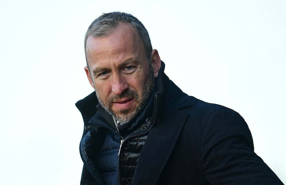 Cambridge United manager Shaun Derry <br /> <br /> Photographer Chris Vaughan/CameraSport<br /> <br /> The EFL Sky Bet League Two - Cambridge United v Blackpool - Saturday 14th January 2017 - The Cambs Glass Stadium - Cambridge<br /> <br /> World Copyright © 2017 CameraSport. All rights reserved. 43 Linden Ave. Countesthorpe. Leicester. England. LE8 5PG - Tel: +44 (0) 116 277 4147 - admin@camerasport.com - www.camerasport.com