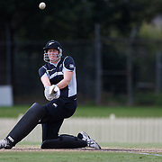 Nicola Browne batting during the match between England and New Zealand in the Super 6 stage of the ICC Women's World Cup Cricket tournament at Bankstown Oval, Sydney, Australia on March 14 2009, England won the match by 31 runs. Photo Tim Clayton